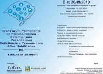 173º Fórum Permanente da Política Pública Estadual para PcD e PcAH