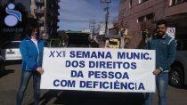 Segue atividades da Semana Municipal da Pessoa Com Deficiência